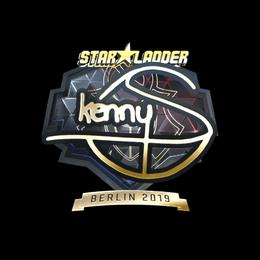 Наклейка | kennyS (золотая) | Берлин 2019