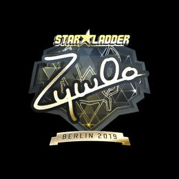 Наклейка | ZywOo (золотая) | Берлин 2019