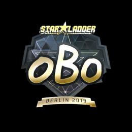 Наклейка | oBo (золотая) | Берлин 2019