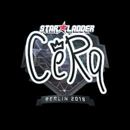 Наклейка | CeRq (металлическая) | Берлин 2019