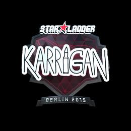 Наклейка | karrigan (металлическая) | Берлин 2019