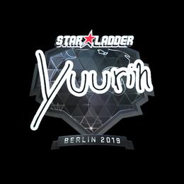 Наклейка | yuurih (металлическая) | Берлин 2019