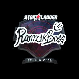 Наклейка | Ramz1kBO$$ (металлическая) | Берлин 2019