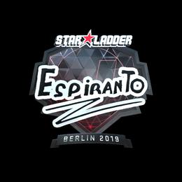 Наклейка | EspiranTo (металлическая) | Берлин 2019