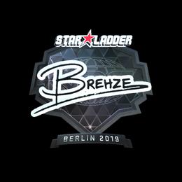 Наклейка | Brehze (металлическая) | Берлин 2019