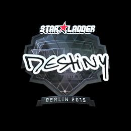 Наклейка | DeStiNy (металлическая) | Берлин 2019