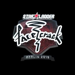 Наклейка | facecrack (металлическая) | Берлин 2019