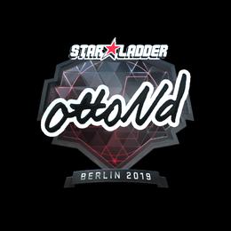 Наклейка | ottoNd (металлическая) | Берлин 2019