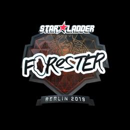 Наклейка   Forester (металлическая)   Берлин 2019