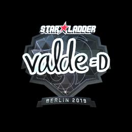Наклейка | v4lde (металлическая) | Берлин 2019
