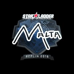 Наклейка | malta (металлическая) | Берлин 2019
