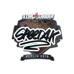 Наклейка | speed4k (металлическая) | Берлин 2019