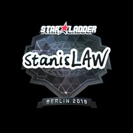 Наклейка | stanislaw (металлическая) | Берлин 2019
