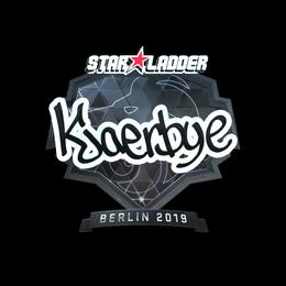 Наклейка   Kjaerbye (металлическая)   Берлин 2019
