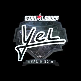 Наклейка | yel (металлическая) | Берлин 2019