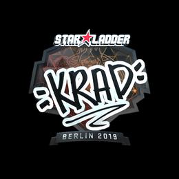 Наклейка | Krad (металлическая) | Берлин 2019