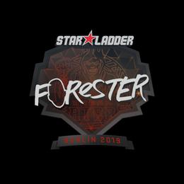 Наклейка   Forester   Берлин 2019