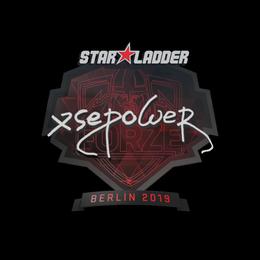 Наклейка   xsepower   Берлин 2019