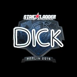 Наклейка | DickStacy (металлическая) | Берлин 2019